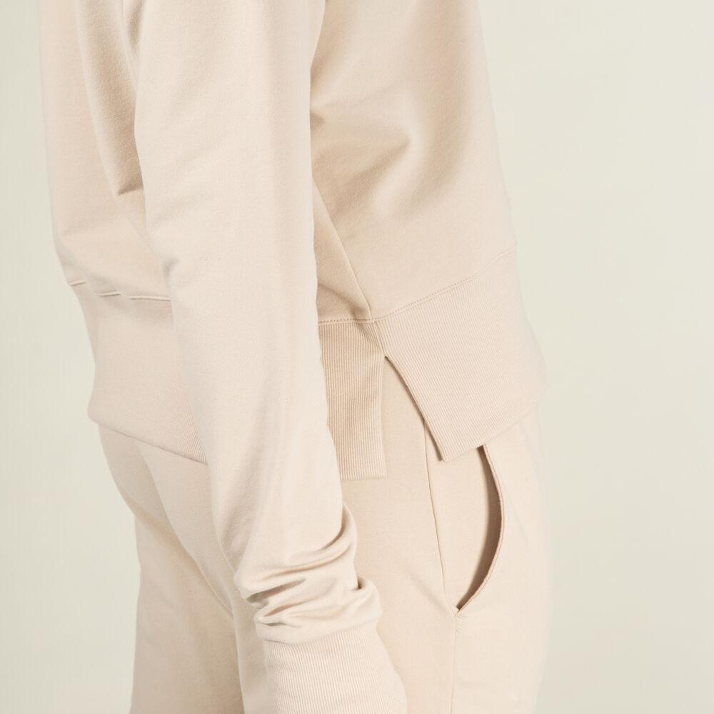 Bukse økologisk bomull, white sand, hi-res