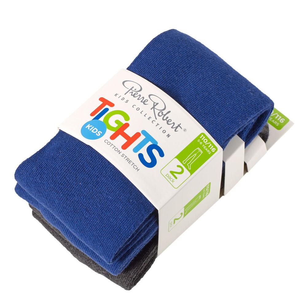 Strømpebukser bomull 2 pak blå og sort