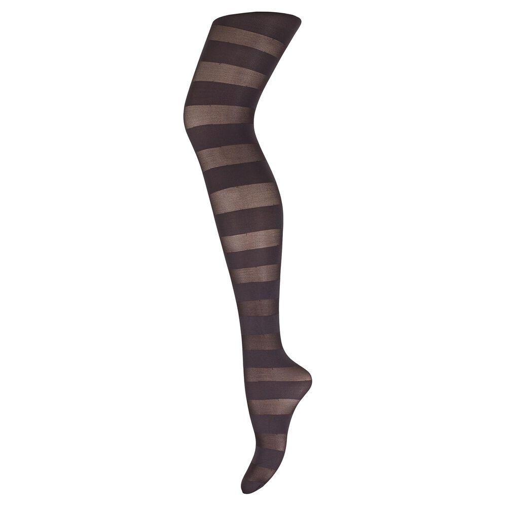 Statement sukkahousut 50 den, charcoal horizontal stripe, hi-res