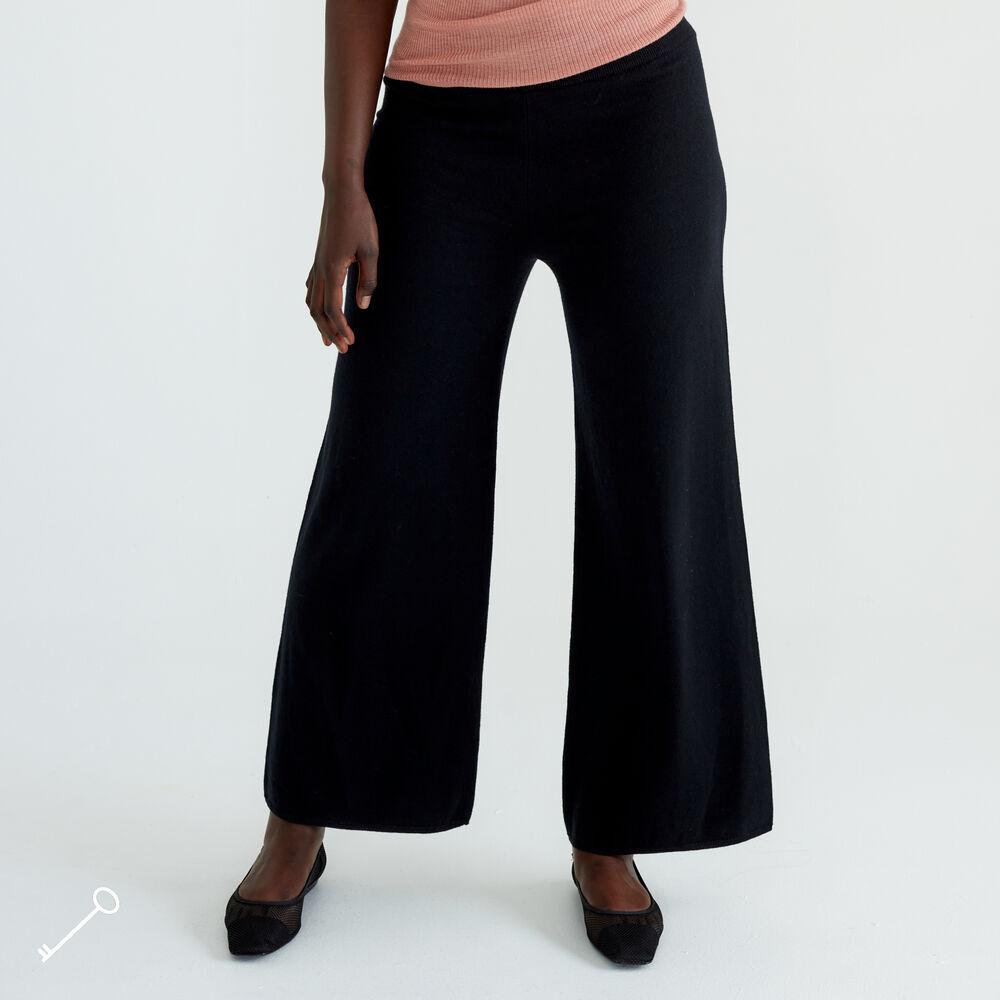 Loungewear bukse merinoull, black, hi-res