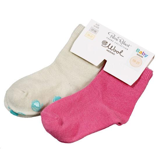 STRUMPOR ULL BABY 2-PACK, off white pink, hi-res