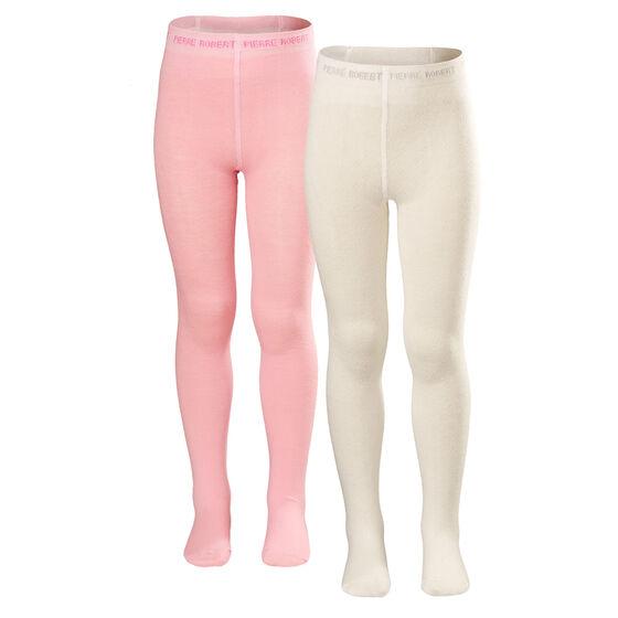 TYKKE STRØMPEBUKSER 2PK WINTER WHITE AND SOFT PINK, whinter white and soft pink, hi-res