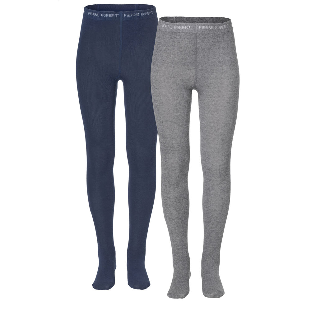 PR Cotton Tights x2 Navy and Grey 2-17 75e74538deed4