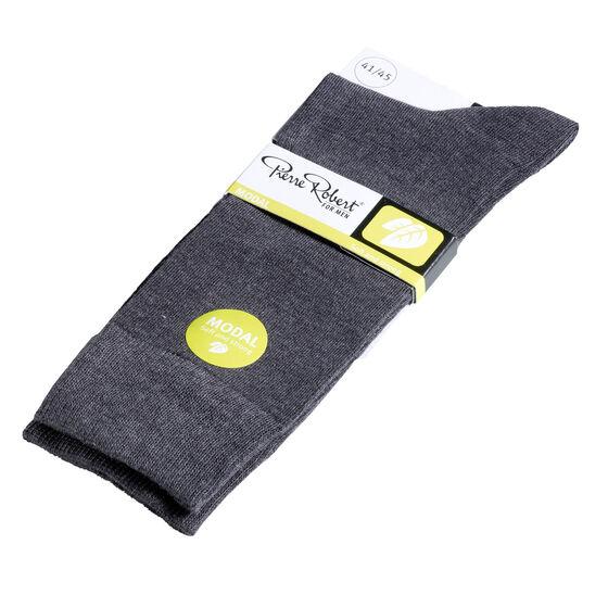 Miesten modaalisukat 2-pack Grey Melange, grey melange, hi-res